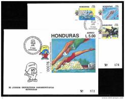 Honduras, Scott Cat. # C826-C828 S/sht, Sports And Judo, First Day Cover