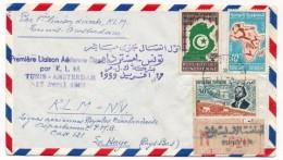 """TUNISIE - Première Liaison Aérienne Directe Par KLM """"TUNIS - AMSTERDAM"""" 17 Avril 1959 - Tunisie (1956-...)"""