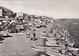 JESOLO Lido Spiaggia Strandleben Boote - Italia