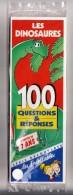 1 FICHES SCOLAIRES LES DINOSAURES 7 ANS LES INCOLLABLES 100 QUESTIONS RÉPONSES SÉRIE DÉCOUVERTE SOUS BLISTER JEUX JOUETS - 6-12 Years Old