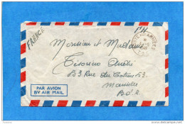 MARCOPHILIE-lettre-INDOCHINE- Cad 1949-poste Aux Armées T O E- Départ SP76188BPM 422A FM Pour Françe - Marcophilie (Lettres)