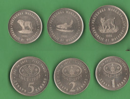 Macedonia 1 + 2 + 5 Dinari FAO 1995 - Macedonia