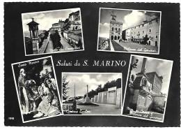 SALUTI DA SAN MARINO 5 VEDUTE VIAGGIATA FG - San Marino