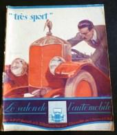 REVUE TRES SPORT 1922 SALON DE L'AUTOMOBILE ILLUSTRATEUR SEM NATATION AVIATEUR SADI LECOINTE MONES MAURY BOXE CARPENTIER - Auto