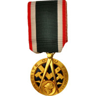 France, Mérite Du Travail, Medal, Très Bon état, Silver And Gold, 38.5 - Army & War