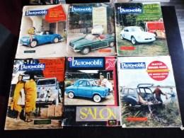 LOT DE 5 REVUES : L'AUTOMOBILE 1956 ET 1957 SALON DE L'AUTO DAUPHINE ALPINE RAID PARIS-TOKYO CITROËN 4 CHEVAUX RENAULT - Auto
