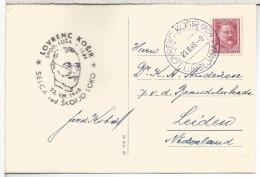 YUGOSLAVIA 1938 CC CON SELLO Y MAT LOVRENC KOSIR INVENTOR DEL SELLO ANTES ROWLAND HILL