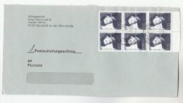 Nuestadt  Weinstrasse GERMANY COVER Stamps 6x 100 NELLY SACHS Poet Playright Theatre Jewish Jew Judaica - Jewish