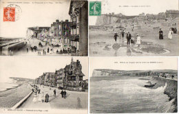 MERS LES BAINS - 4 CPA - La Promenade - Effets De Vague - La Plage A Marée Basse -   (91988) - Mers Les Bains