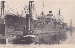 Be - Cpa DUNKERQUE - Un Cargo Boat Des Chargeurs Réunis - Dunkerque