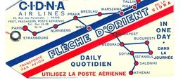 étiquette CINA Flêche D'Orient - Aufklebschilder Und Gepäckbeschriftung