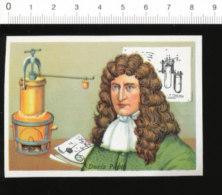 Chromo Image / Denis Papin / Portrait - Digesteur Marmite Histoire De France / 126/56-B - Chromos