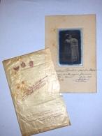 Foto 1913 Bambina Su Cartoncino E Busta Di Acetato Fotografo Alfredo Pesce - Foto