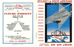 Publicité Et étiquette CINA Flêche D'Orient - Werbung