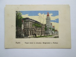 Serbia - Apatin , Polgari Iskola Es Varoshaz - Burgerschule U ,Rathaus - Serbia