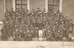 Cpa Carte-photo Militaire, La Musique Du 80e De Ligne à Narbonne (11), 5e Cie, 1909, Bon état - Regimente