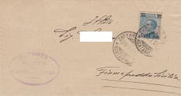 P1 Lettera Da Zafferana Etnea 20.07.24 Per Fiumefreddo Di Sicilia - 1900-44 Vittorio Emanuele III