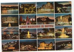 Cartolina Lago Maggiore Di Notte FG NV Colori  Vera Foto - Italie
