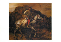 Rembrandt, Polish Rider, Art Painting Postcard Unposted - Pittura & Quadri