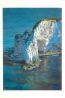 Sheila Goodman, Chalk Cliffs Of Dorset, Art Painting Postcard Unposted - Paintings
