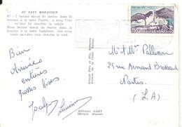 N° 1311 Sur CARTE POSTALE St JEAN DE MONTS De 1963 - Marcophilie (Lettres)