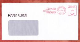 Brief, Absenderfreistempel, Ladylike Rank Xerox, 80 Pfg, Duesseldorf 1987 (32721) - BRD