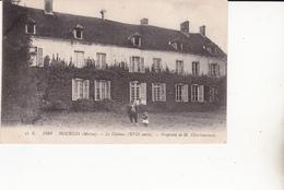 CPA (51) HOURGES. . Le Château (XVIIe Siècle), Animé, Fillette Tenant Un Chien....A1 - France