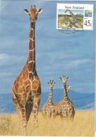 New Zealand - Postal Stationary - Entier And Maximumcard  1994 : Giraffe