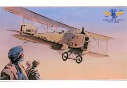 PIE-16 - 1084 : CENT ANS D AVIATION  AERO-CLUB DE FRANCE CARTE ILLUSTREE G. WEYGAND  BREGUET XIV LIGNE LATECOERE 1923. - Aviation