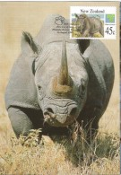 New Zealand - Postal Stationary - Entier  And Maximum Card 1994 : White Rhino