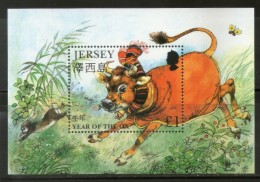 Jersey 1997 Chinese New Year Of The OX Zodiac Sign Animal M/s Sc 777 MNH # 5037 - Chinese New Year