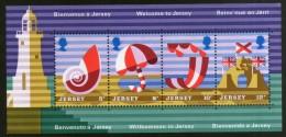 Jersey 1975 Tourist Publicity Posters Lighthouse Umbrella M/s Sc 127a MNH # 13366 - Other