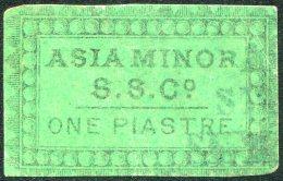 Ottoman Turkey 1868 BELL'S ASIA MINOR STEAMSHIP CO. Local Private Post ONE PIASTRE Used SMYRNA AGENCY Maritime Ship Mail - 1858-1921 Impero Ottomano