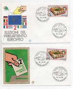 Italia-1984-Lotto 2 Buste FDC- 2° Elezioni Parlamento Europeo -Con Doppio Annullo Trento Filatelico - (FDC1037) - 6. 1946-.. Republik