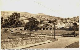 GWENT - CRICKHOWELL BRIDGE AND GENERAL VIEW FROM LLANGATTOCK ROAD  Gw118 - Breconshire