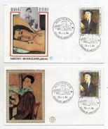 Italia-1984-Lotto 2 Buste FDC- Amedeo Modigliani - Pittore -Con Doppio Annullo Trento Filatelico - (FDC1038) - FDC