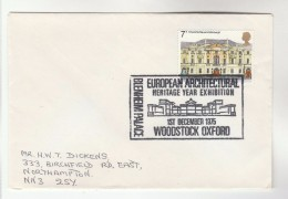 1975 Cover BLENHEIM PALACE EXHIBITION European ARCHITECTURE EVENT Woodstock GB Stamps - Castles