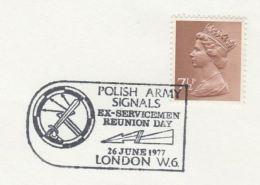 1977 Cover GB POLISH ARMY SIGNALS  EX SERVICEMAN REUNION London Radio Telecom Poland - Telecom
