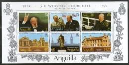 Anguilla 1974 Sir Winston Spencer Churchill Birth Centenary Sc 198a MNH # 6485