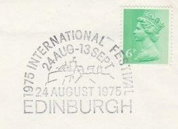 1975 Cover EDINBURGH INTERNATIONAL FESTIVAL  EVENT Theatre CASTLE Gb Stamps - Theatre
