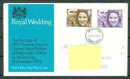 Great Britain 1973 FDC Royal Wedding - Sent To Allschwill (Switzerland). - 1971-1980 Em. Décimales