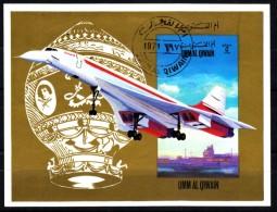 Umm- Al- Kaiwain  1971   MiNr. ?   Block  O/ Cancelled   Concorde