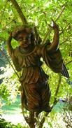 XVIIe S. Grand Ange Baroque En Bois Sculpté - Bois