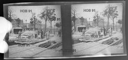 Photographie - Plaque De Verre - Début 20e - Travaux De Voirie, Tramway ? (B 513-1, Lot 2) - Glasplaten