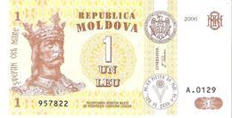 Moldova - Pick 8g - 1 Leu 2006 - Unc - Moldavia