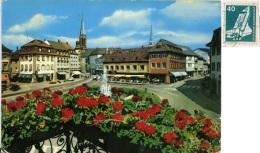 GERMANIA  BADEN-WUERTTEMBERG  EMMENDINGEN  Blick Auf Marktplatz Und Stassencafé - Emmendingen