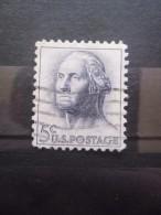 USA N°741a Phosphorescent GEORGE WASHINGTON Oblitéré - George Washington
