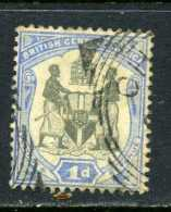 RARE 1D BRITISH CENTRAL AFRICA BLUE 1897 STAMP TIMBRE USED - Great Britain (former Colonies & Protectorates)