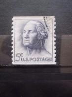 USA N°741c Dentelé 10 Verticalement Phosphorescent GEORGE WASHINGTON Oblitéré - George Washington
