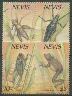 Nevis 1989 Nachtaktive Kleintiere: Grille, Laubfrosch, Zikade 514/17 Postfrisch - Briefmarken